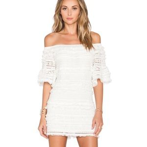 Alexis // Pueblo Fringe Dress in White